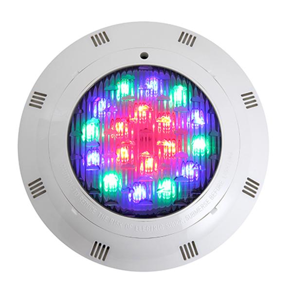 Đèn led dưới nước 7 màu 12W-12V đổi màu tự động vỏ ngoài bằng nhựa dùng trang trí cho bể bơi hoặc sân vườn, hồ cá-thiết bị hồ bơi
