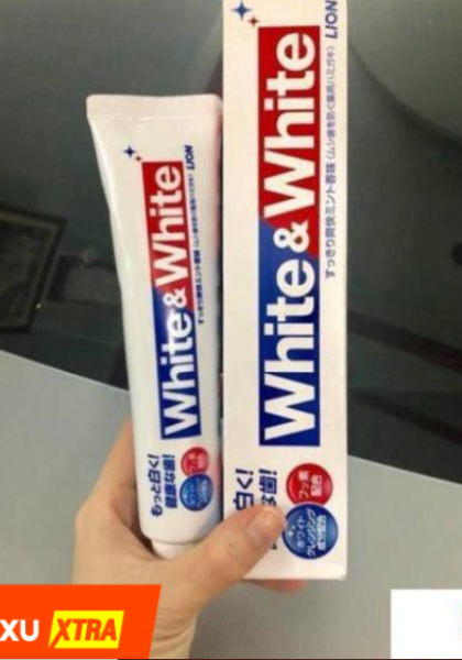 Kem Đánh Răng White & White Nhật Lion 150g