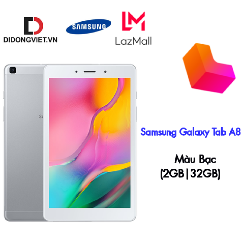 Máy tính bảng Samsung Galaxy Tab A8 (2GB32GB) 2019 - Màn hình 8 inch + Tỷ lệ 16:10 + Độ phân giải 1280 x 800 pixels + Trọng lượng chỉ 347g dày 8mm + Hỗ trợ thẻ nhớ đến 512G + Pin 5100mAh - BH 12 tháng chính hãng
