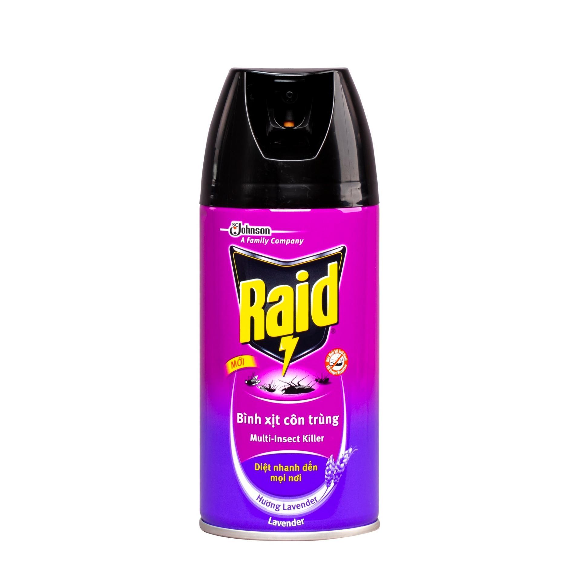 Bình xịt diệt côn trùng Raid hương lavender 300ml
