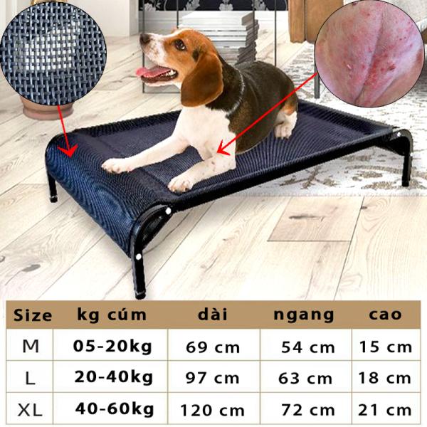 [HCM]giường lưới cao cấp thoáng khí chống Nấm da cho chó mèo-79102