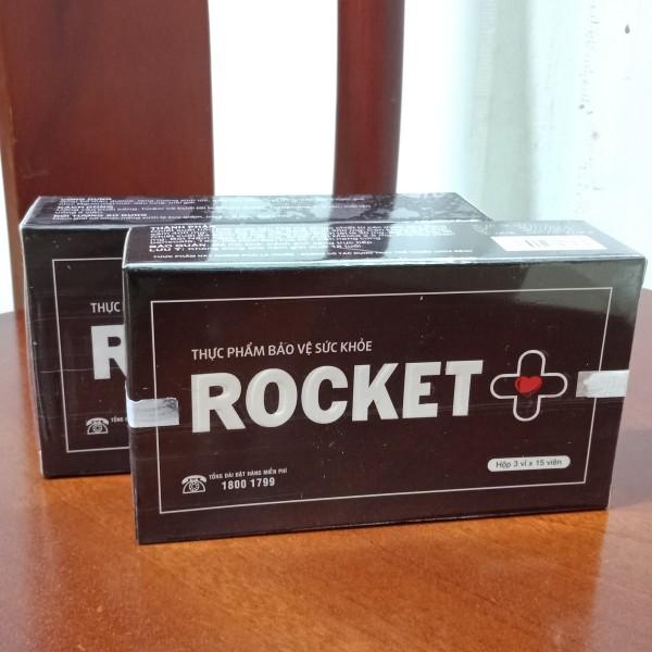 Bổ thận nam, dưỡng thận hàng ngày, tăng cường sức khỏe sinh lý nam - Viên uống ROCKET+ Sao Thái Dương, chứa các thảo dược tự nhiên ( hộp 45 viên)