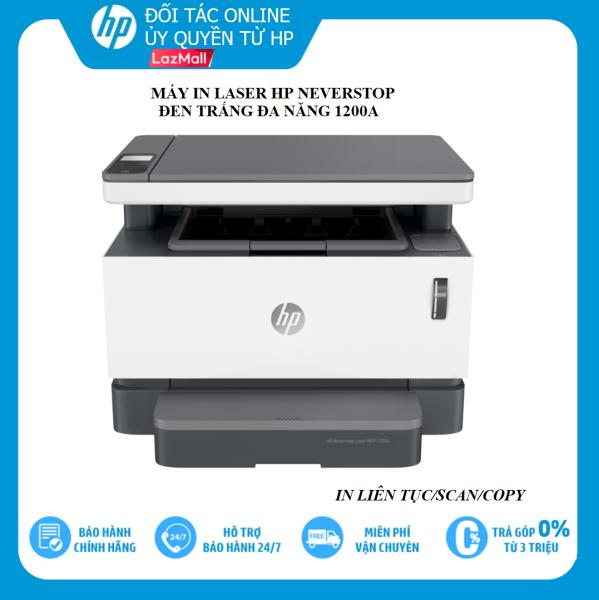 [VOUCHER 20% 27-29/3] Máy in đa chức năng HP neverstop laser MFP 1200A (4QD21A) - in sao chép quét, thiết kế tinh tế phù hợp với văn phòng, công sở, cùng với nhiều tính năng