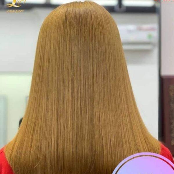 Thuốc nhuộm tóc màu vàng cát (kèm oxi và găng tay)