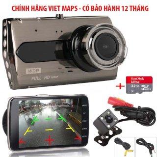 [ hàng nhập khẩu ] Camera Hành Trình xe hơi X008 Tiếng Việt ( Trước + Sau) - màn hình 4 inch-Lưu trữ video tối đa 45 ngày qua thẻ nhớ MicroSD- Xem lại Video đã ghi hình qua điện thoại- Bh 24 Tháng thumbnail