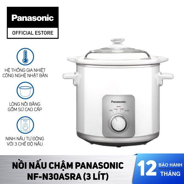 Nồi nấu chậm Panasonic NF-N30ASRA (3 Lít) - Hàng chính hãng - Bảo hành 12 tháng
