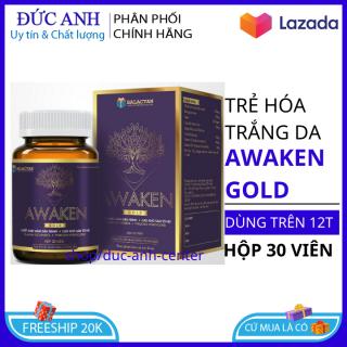 Trắng da toàn thân collagen Awaken 30 viên giúp da trắng khỏe đẹp giữ nét thanh xuân HSD 2023 - viên uống trắng da ngọc trinh thumbnail