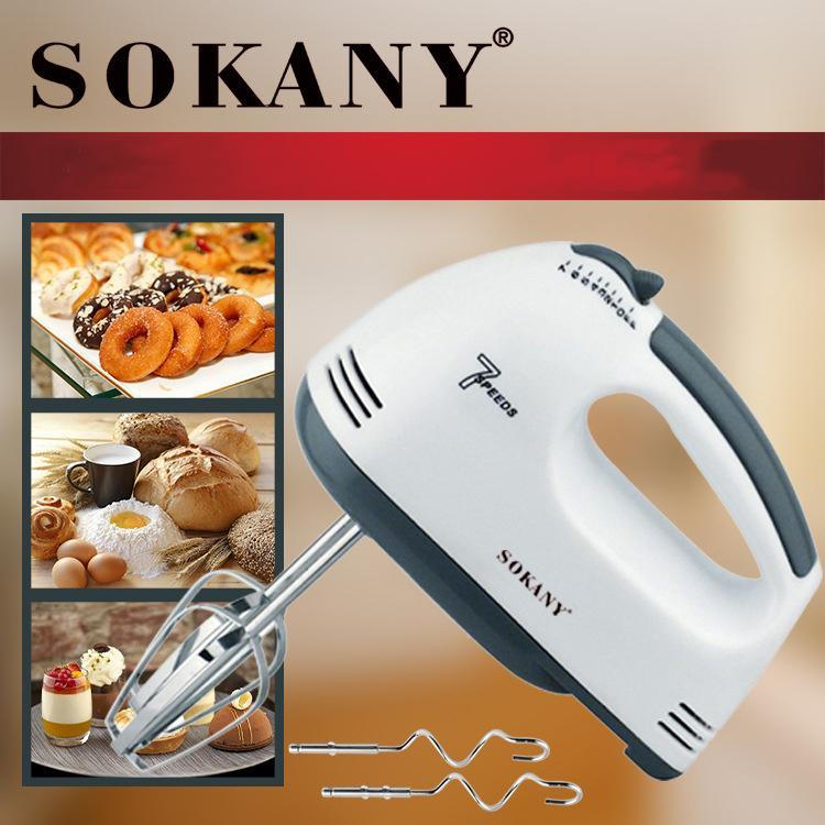 Máy đánh trứng cầm tay mini Sokany 7 tốc độ đánh với công suất khủng 180W cao cấp không gỉ ( bảo hành 1 năm )