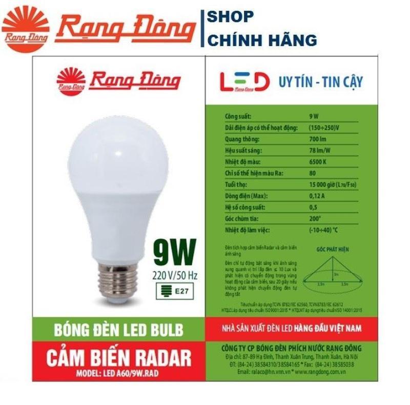 Đèn LED Cảm Biến Chuyển Động 7W/9W/15W Rạng Đông, ChipLED Samsung