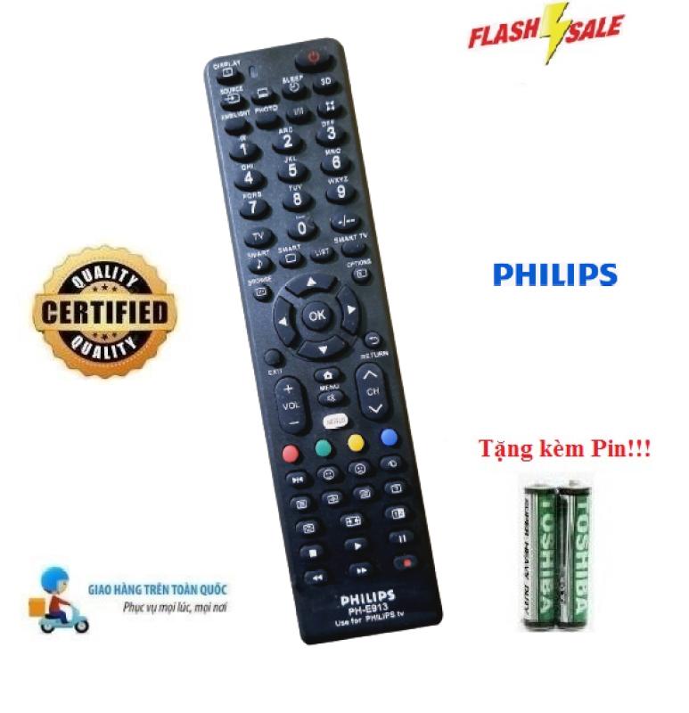 Bảng giá Remote Điều khiển tivi Philips PH-E913 các dòng LED/LCD/Smart TV- Hàng loại tốt Tặng kèm Pin