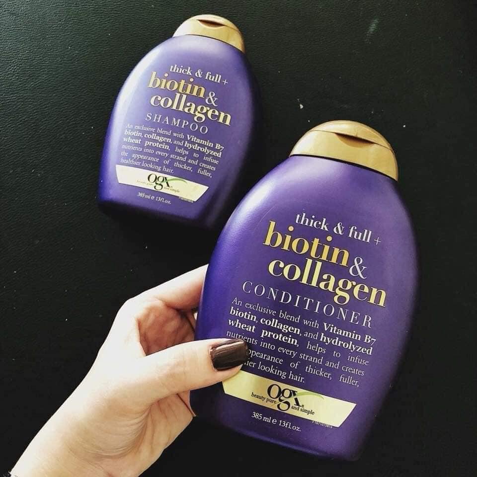 Dầu Xả Biotin Collagen OGX Giảm Rụng Tóc 385ML