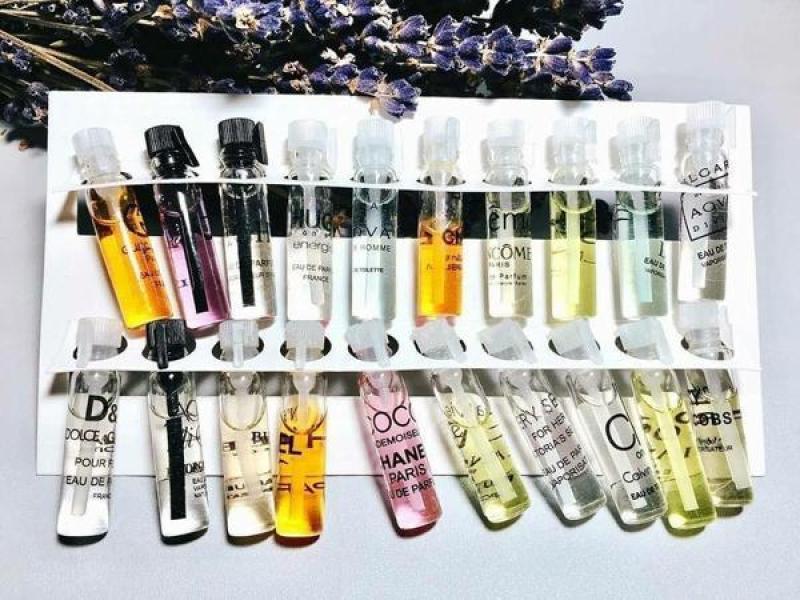 [ BÁN SỈ ] Combo 10 hộp set nước hoa mini 20 chai, combo 10 hộp set nước hoa test 2ml, hương thơm đa dạng