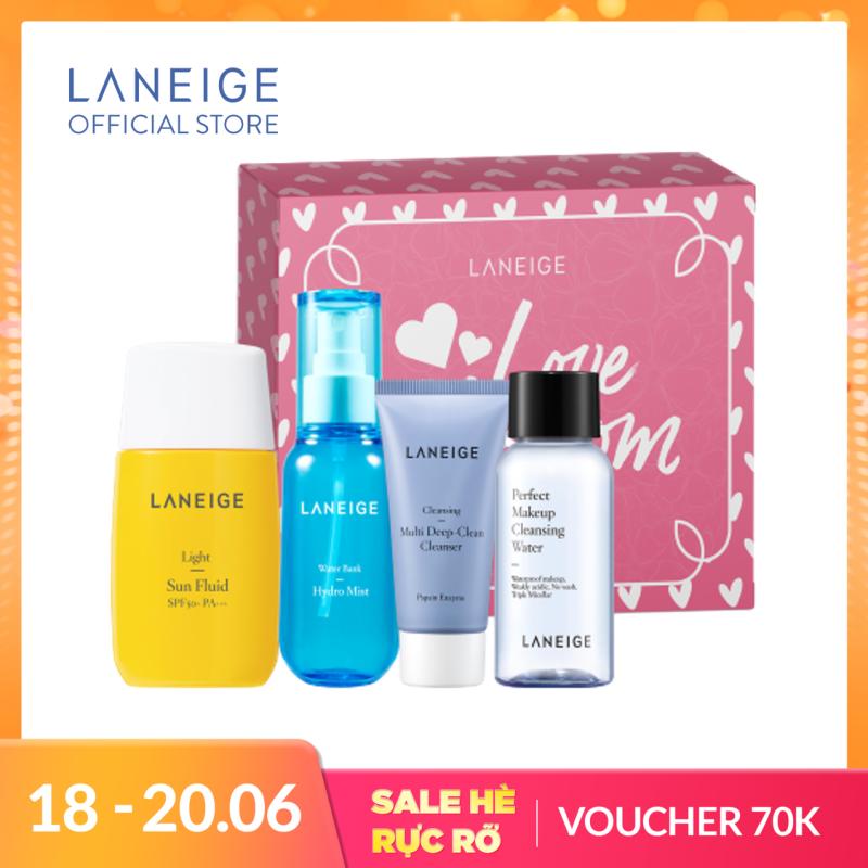 Bộ dưỡng ẩm và chống nắng bảo vệ da toàn diện Laneige Set giá rẻ