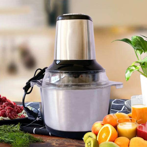 Máy xay thịt cối inox cao cấp , máy xay đa năng 4 lưỡi có thể dùng xay hành tỏi, xay tiêu hoặc các loại thực phẩm khác