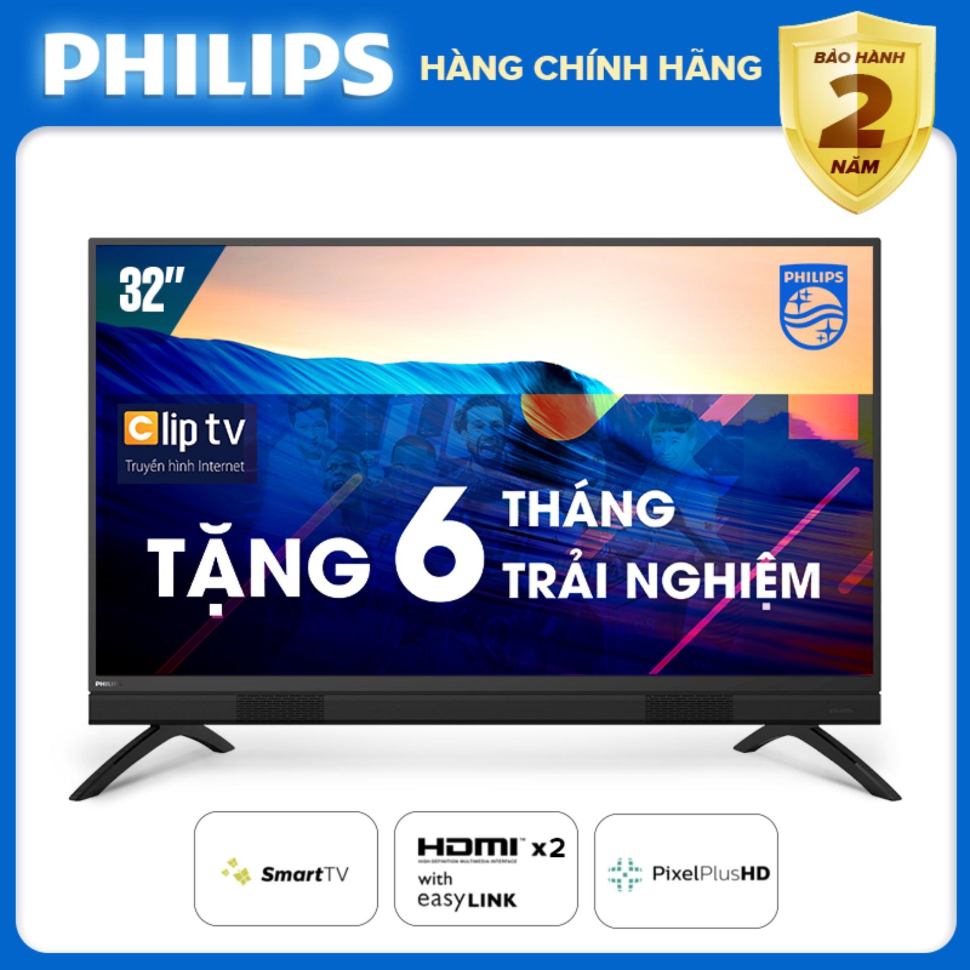 Bảng giá SMART TIVI 32 INCH HD LED KẾT NỐI INTERNET WIFI (hàng Thái Lan) tivi giá rẻ - Bảo hành 2 năm tại nhà - Tặng USB xinh xắn 32PHT5883/74 Tivi Philips [Đặt hàng trước]