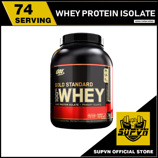 100% Whey Protein On Gold Standard Optimum nutrition 5lbs - Whey On Gold Standard 5.64 Lbs - Sữa tăng cơ bổ sung Protein cao cấp