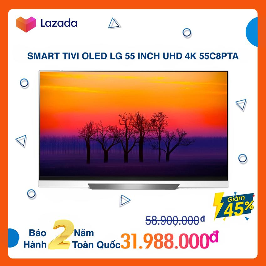Smart Tivi OLED LG 55 inch Ultra HD 4K - Model 55C8PTA (Đen) (Có Magic Remote) NEW 100%