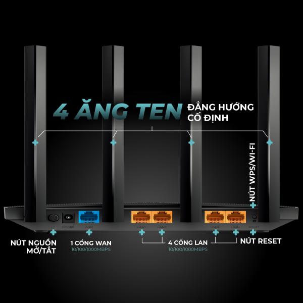 Bảng giá Bộ phát wifi TP-Link băng tần kép MU-MIMO 3x3 AC1900 - Router wifi hiệu suất cao Archer C80 Hãng phân phối chính thức Phong Vũ