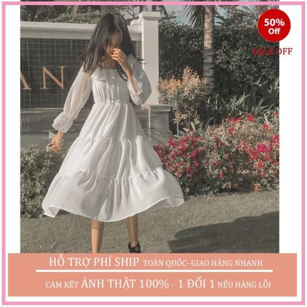 Đầm Váy Dự Tiệc Trễ Vai Bèo 3 Tầng, Váy Tthiết Kế Sang Chảnh, Siêu Đẹp Tôn Dáng, Thời Trang Cao Cấp Sumo1986