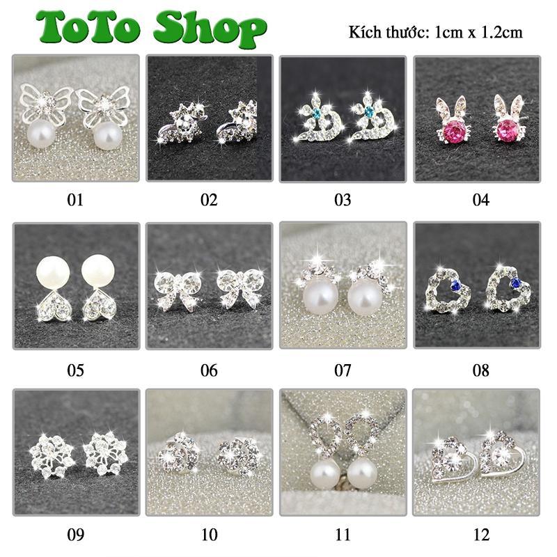 [01 đôi tùy chọn mẫu] Bông tai phong cách Hàn Quốc siêu dễ thương BSTKNu - [ToToShop]