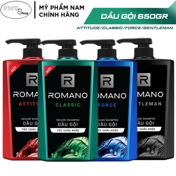 1 chai Dầu gội nam Romano hương nước hoa 650g Classic | Attitude | Force | Gentleman 650ml