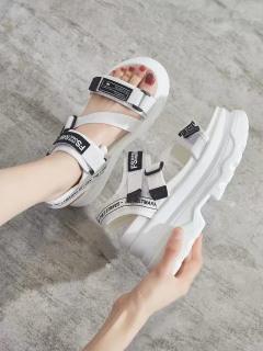 (Video 2 màu) Sandal nữ,sandal học sinh độn đế 5p fashion kiểu dáng mới siêu đẹp 4