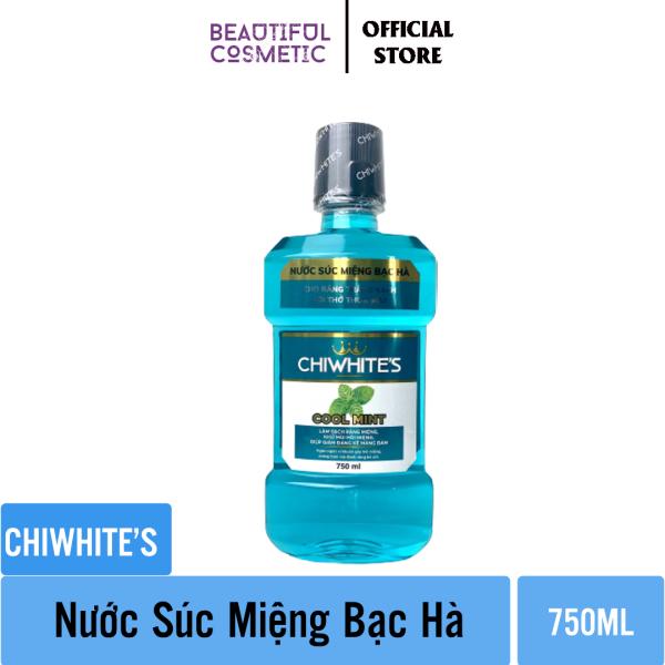 Nước súc miệng Chiwhites 750ml - Bạc Hà - Làm sạch mảng bám - Đem lại hơi thở thơm mát giá rẻ