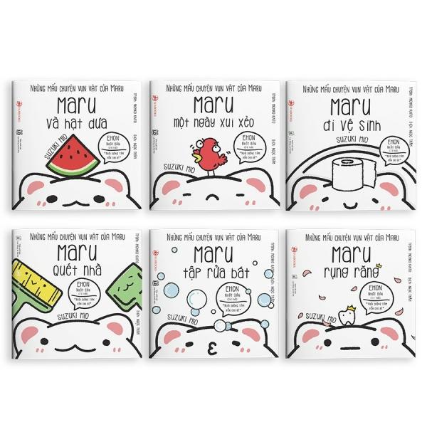 Mua Sách Ehon - Combo 6 cuốn Maru - Ehon Nhật Bản dành cho bé từ 2 - 8 tuổi.