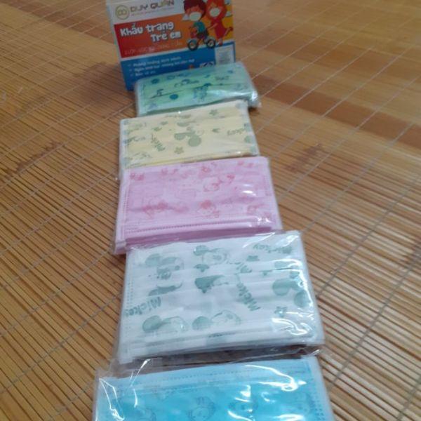 Khẩu trang y tế cho bé vải kháng khuẩn 1 hộp/50 chiếc