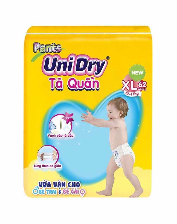 tã quần Unidry XL62 cho bé 12-17kg
