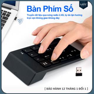Bàn phím số không dây, bàn phím không dây nhỏ gọn, siêu nhạy, đa năng, 18 phím thích hợp dùng cho nhiều thiết bị iMac MacBook Air Pro Laptop Máy Tính Xách Tay Máy Tính Để Bàn - Bảo hành 12 tháng G3 thumbnail