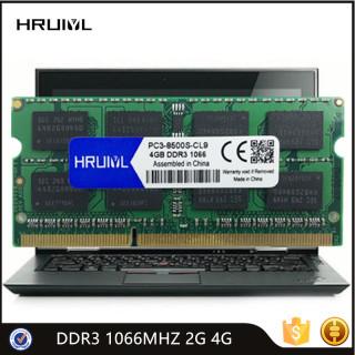 HRUIYL Notebook RAM DDR3 4GB 2GB 1066MHZ SO-DIMM Memory High Performance DDR3 PC3 8500S Laptop Memoria Sticks Original Chip New thumbnail