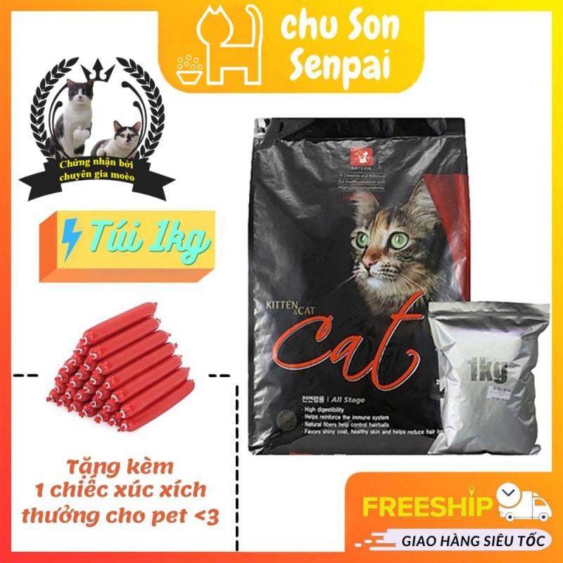 Thức ăn hạt khô cho mèo Cateyes (Túi 1kg), an toàn, giá rẻ, chính hãng Hàn Quốc chất lượng cao - Chú Sơn Senpai