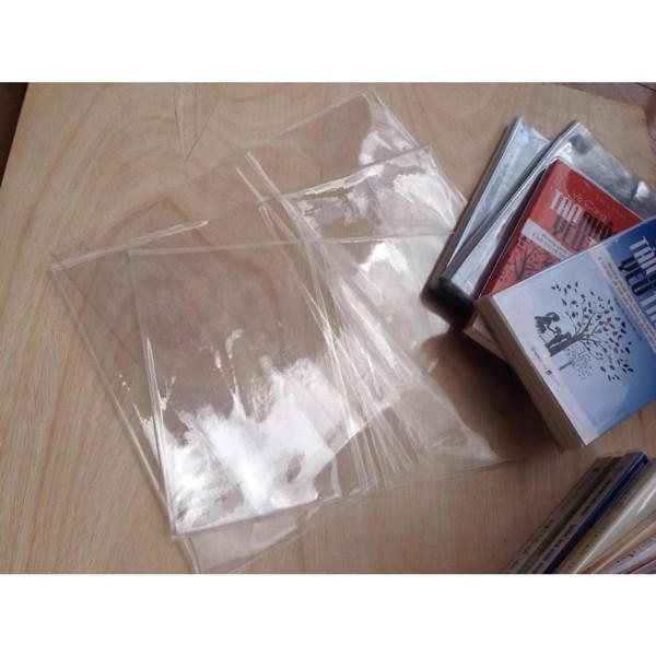 Mua Bộ 03 Bìa Bọc Sách plastic cao cấp cho sách, truyện( size 17.6-19cm)