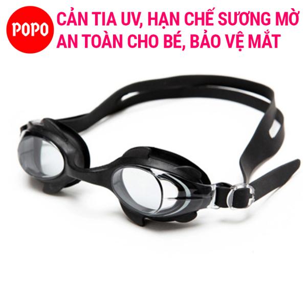 Kính bơi cho bé, Kính bơi trẻ em POPO 1580 mắt kiếng bơi bé trai bé gái chống tia UV, chống sương mờ