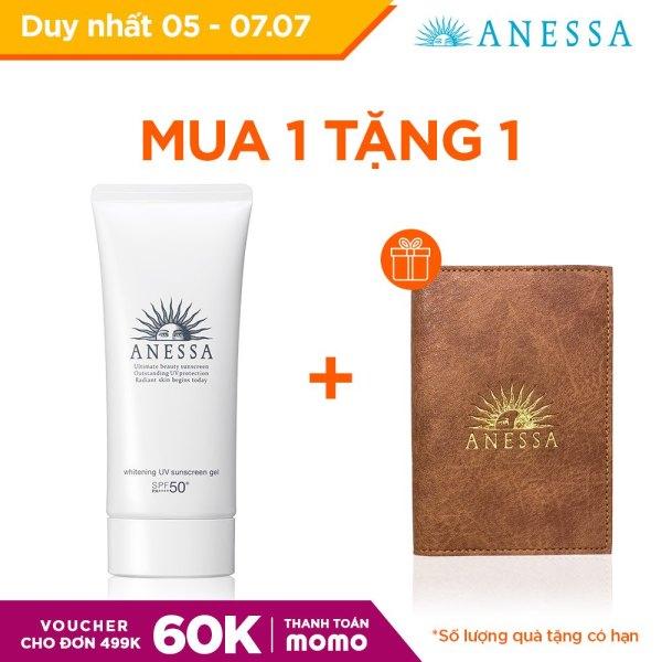 [Voucher MoMo 60k] Gel chống nắng dưỡng trắng ngăn sạm da giảm thâm nám Anessa Whitening UV Sunscreen Gel - SPF50+ PA++++ - 90g cao cấp
