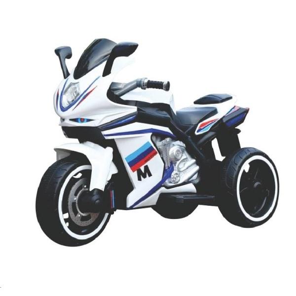 Giá bán Xe máy điện moto 3 bánh AM1166 thể thao có điều hòa 3 bánh đạp ga đồ chơi vận động ( Đỏ - Vàng - Trắng)