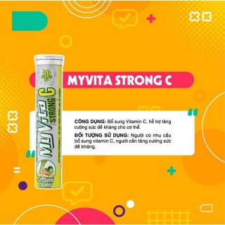 MATARA - MyVita Strong C - Viên Sủi Bổ Sung Vitamin C. Hỗ Trợ Tăng Cường Sức Đề Kháng thumbnail