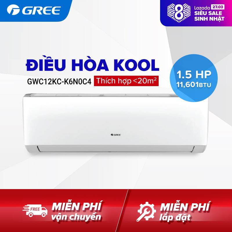 Bảng giá Điều hòa GREE- công nghệ Real Cool - 1.5 HP (11.601 BTU) - KOOL GWC12KC-K6N0C4 (Trắng) - Hàng phân phối chính hãng
