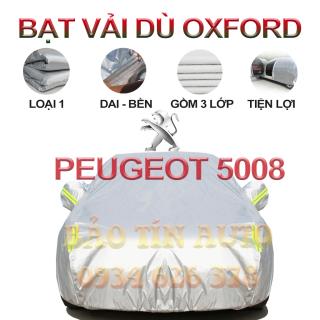 [LOẠI 1] Bạt che kín bảo vệ xe ô tô PEUGEOT 5008 tráng bạc cao cấp, vải bông chống xước 3 lớp vải dù Oxford , bạt phủ trùm bảo vệ xe ô tô, áo chùm bạc trùm phủ xe oto Bảo Tín Auto thumbnail