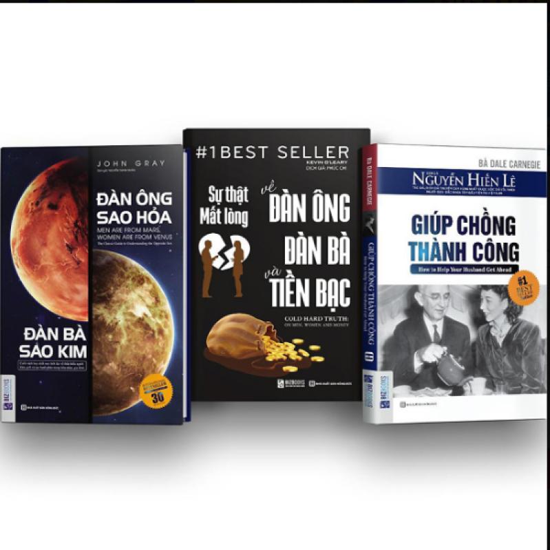 Combo 3 cuốn sách: Đàn ông sao hỏa đàn bà sao kim + Sự thật mất lòng về đàn ông, đàn bà và tiền bạc + Giúp chồng thành công (tặng kèm postcard)