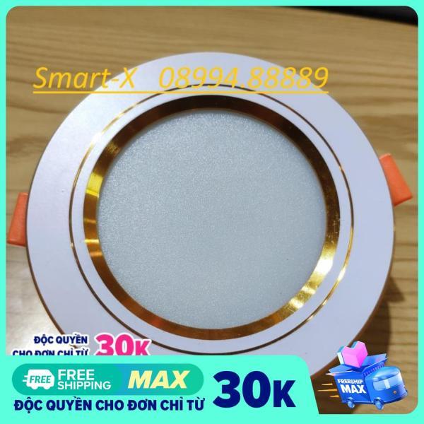Bảng giá Combo 20 Đèn led âm trần 7w,phi 90,3 chế độ màu,đế tản nhiệt nhôm hình lá