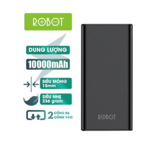 [Bảo hành 12 tháng 1 đổi 1]Pin sạc dự phòng 10000mAh ROBOT RT170 thiết kế nhỏ gọn 2 cổng USB và 2 cổng Micro Type-C tặng dây sạc Micro - Hàng Chính Hãng thumbnail