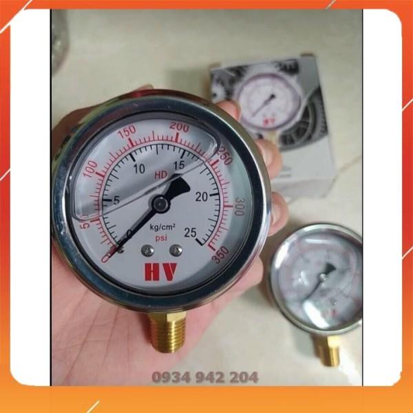 Đồng hồ đo áp suất mặt dầu 25 kg