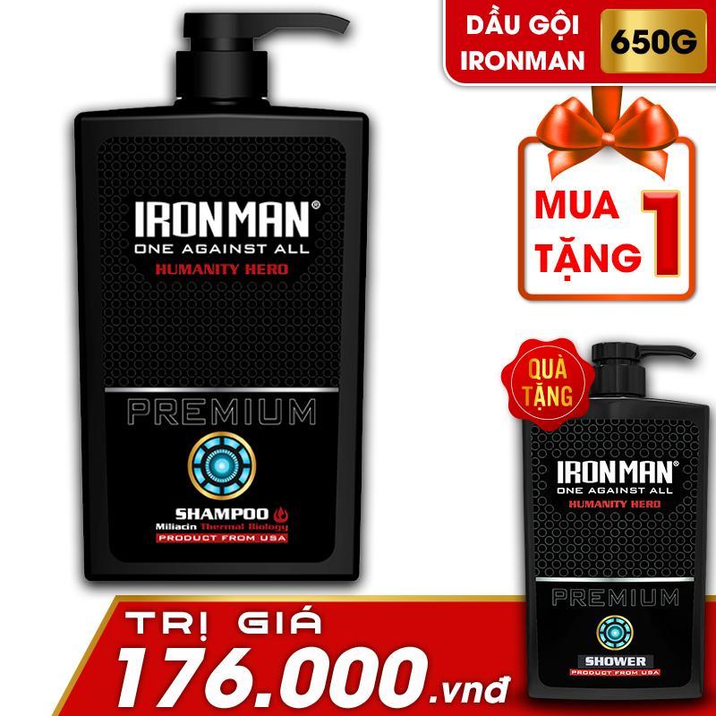 (MUA 1 TẶNG 1) Mua dầu gội nhiệt hương nước hoa Ironman Humanity 650g Tặng Sữa tắm nhiệt hương nước hoa Ironman Humanity 650g