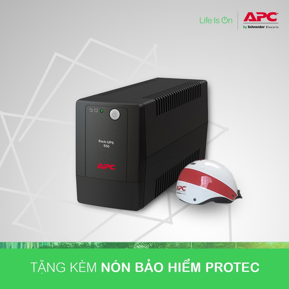 Bảng giá [Khuyến mãi] - Bộ lưu điện:  Back-UPS 650VA, 230V, AVR, Universal Sockets - BX650LI-MS Phong Vũ