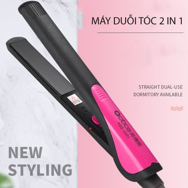 [An Toàn] Máy ép duỗi tóc uốn tóc chuyên nghiệp, máy uốn duỗi tóc mini đang năng 2in1 hàng cao cấp phong cách Hàn Quốc, Dụng cụ kẹp  tóc làm đẹp tại nhà tiện lợi