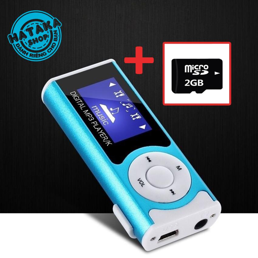 [Nhập ELAPR21 giảm 10% tối đa 200k đơn từ 99k]Máy nghe nhạc tặng thẻ nhớ 2GB tai nghe và dây sạc-LCD có loa-2GB