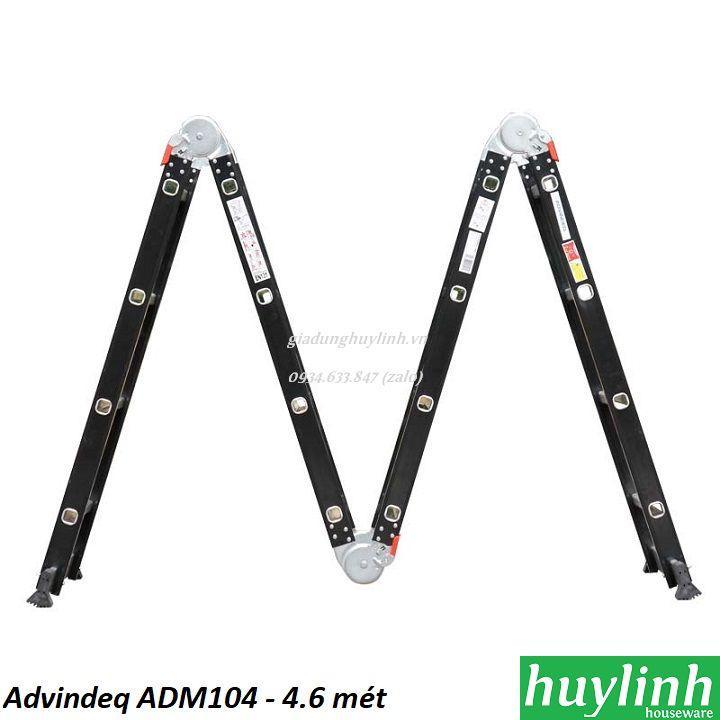 Thang nhôm gấp 4 đoạn Advindeq ADM104 - 4.6 mét