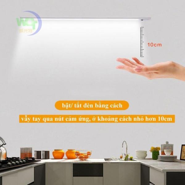 Đèn cảm ứng vẫy tay lắp tủ bếp dài 60cm bóng led 11w kèm nguồn 12V 2A